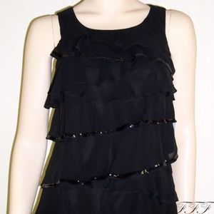 Calvin Klein NWT Tiered Sequined Dress #5206